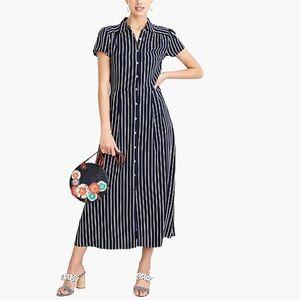 NWOT J. Crew Midi Length Short Sleeve Shirt Dress